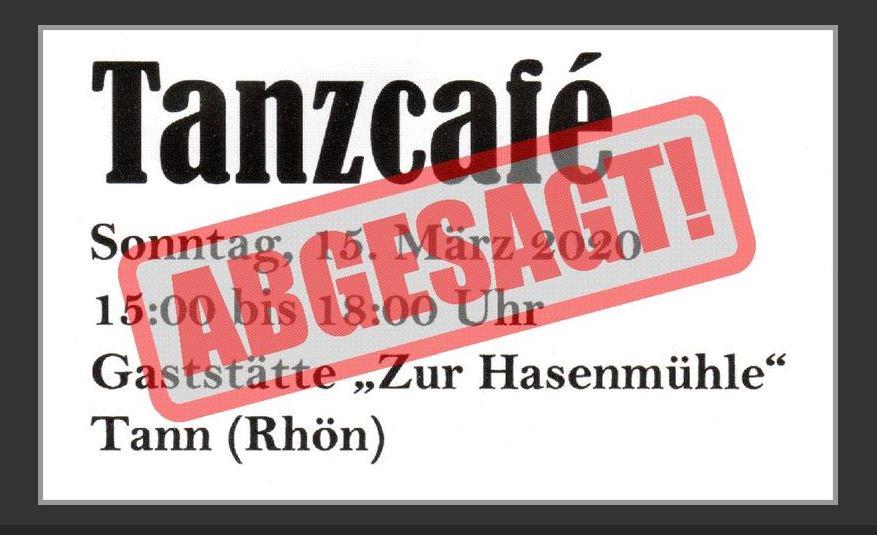 Tanzcafé findet nicht statt!